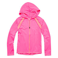 Xersion Performance Zip Hoodie - Girls 7-16 and Plus