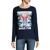 The Little Mermaid Brushed Fleece Sweatshirt- Juniors