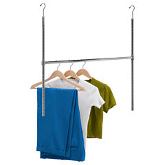 Honey-Can-Do® Chrome Adjustable Hanging Closet Rod