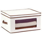 Honey-Can-Do® Natural Canvas Large Window Storage Chest