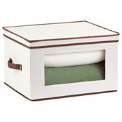 Honey-Can-Do® Natural Canvas Tall Window Storage Chest