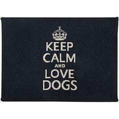 PB Paws by Park B. Smith® Keep Calm & Love Dogs Pet Mat