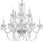 12-Light Venetian-Style Crystal Chandelier