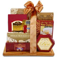 Alder Creek Burgundy & Gold Sweet and Savory Cutting Board Gift Set