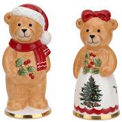 Spode® Christmas Teddy Bear Salt and Pepper Shaker Set