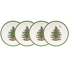 Spode® Christmas Tree Set of 4 Dinner Plates