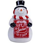 Certified International Chalkboard Christmas Snowman Cookie Jar