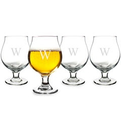 Cathy's Concepts Personalized Set of 4 Belgian Beer Glasses