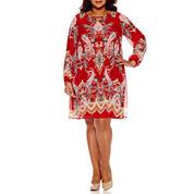 Bailey Girl Long Sleeve Sheath Dress-Juniors Plus