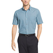 Van Heusen Short Sleeve Flex Non Iron Stretch Button-Front Shirt