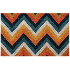 Better Trends Chevron Printed Rectangle Doormat - 18