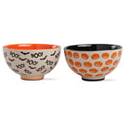 Tag Halloween Pumpkin And Boo 2-pc. Cereal Bowl