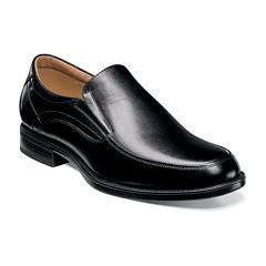 Florsheim® Center Mens Leather Moc-Toe Slip-On Dress Shoes