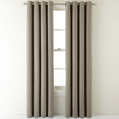 MarthaWindow™ Fairmount Basketweave Grommet-Top Heavyweight Cotton Curtain Panel