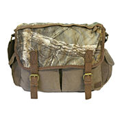 Realtree® Leather-Trim Canvas Messenger Bag