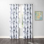 No. 918 Kaya Crushed Microfiber Grommet-Top Curtain Panel