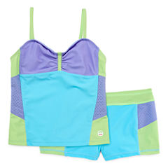 Free Country Girls Solid Tankini Set - Big Kid