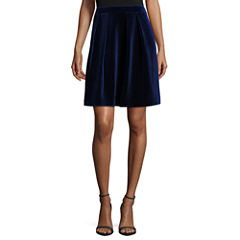 Worthington Novelty Pleated Full Skirt