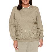 Alfred Dunner Long Sleeve Crew Neck T-Shirt-Plus