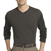 Van Heusen V Neck Long Sleeve Pullover Sweater