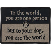 PB Paws by Park B. Smith® To the World Tapestry Pet Mat