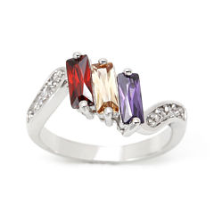 city x city® Multicolor Cubic Zirconia and Crystal Ring