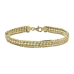 10K Yellow Gold 6.5mm Semi-Solid Woven Rope Bracelet