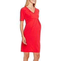 Maternity Elbow-Sleeve Dress