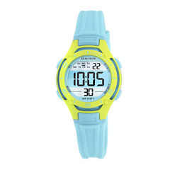 Armitron® Pro-Sport Womens Teal Resin Strap Chronograph Sport Watch 45/7062BLU