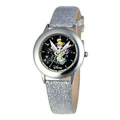 Disney Tinker Bell Kids Gray Glitter Watch
