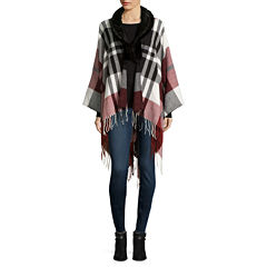 Mixit™ Plaid Wrap with Fur