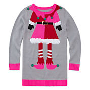 Total Girl® Long-Sleeve Christmas Tunic - Girls 7-16 and Plus