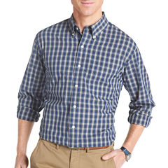 IZOD Long-Sleeve Tartan Woven Shirt