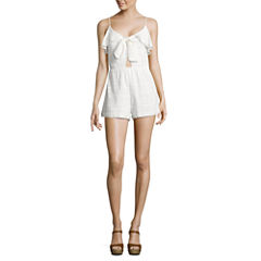 City Triangle Sleeveless Romper-Juniors