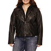 Maralyn And Me Motorcycle Jacket-Juniors Plus