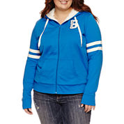 Flirtitude Active Sherpa Lined Hoodie- Juniors Plus