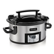 6 qt. Single Handed Portable Crock Pot Cooker