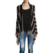 i jeans by Buffalo Long Sleeve Flyaway Sweater