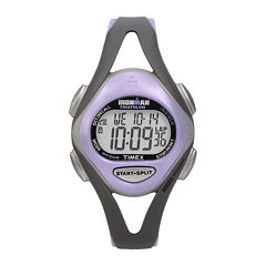Timex® Ironman Sleek Womens Purple Resin Strap 50-Lap Watch T5E5119J