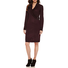 Ronni Nicole Long Sleeve Sweater Dress