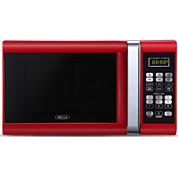 Bella 0.9 Cu. Ft. 900-Watt Red with Chrome Microwave Oven