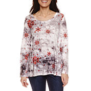 Unity World Wear Long Sleeve Scoop Neck T-Shirt-Petites