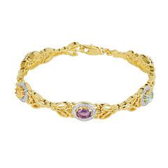 Sparkle Allure Womens Multi Stone Bangle Bracelet