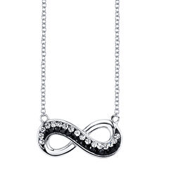 Crystal Sophistication™ Jet and Clear Crystal-Accent Infinity Necklace