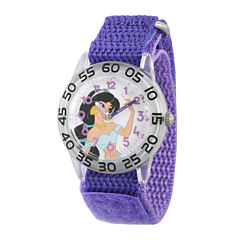 Disney® Girls Purple Jasmine Strap Watch