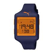 Puma® Digital Orange and Blue Square Watch PU910791009