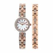 Elgin Womens Rose Goldtone Bracelet Watch-Eg10003st
