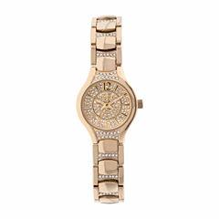 Elgin Womens Gold Tone Bracelet Watch-Eg10007g