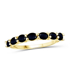 Womens Blue Sapphire Gold Over Silver Delicate Ring