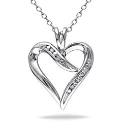 Womens Diamond Accent White Diamond Accent Pendant Necklace Set